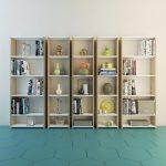 Evidea modern kitaplık modelleri ceviz beyaz