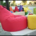 Bahçeler için armut koltuk modeller