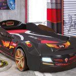 Çilek erkek arabalı yatak siyah
