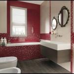 Kırmızı banyo tasarımları