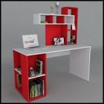Kırmızı çalışma masası
