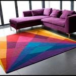 Modern halı renkli