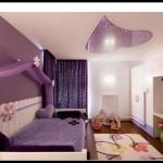 Mor genç odası dekorasyonu