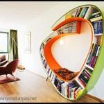 Değişik tasarımlı kitaplık