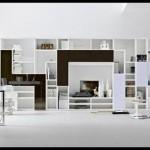 Beyaz siyah geniş kitaplık modeli