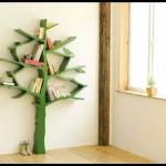 Ağaç temalı kitaplık modeli