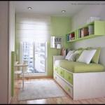 Yeşil genç odası dekorasyonu
