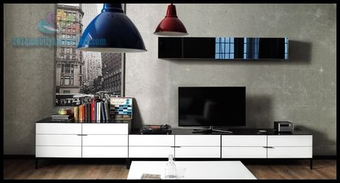 Kitaplıklı Enza Home TV Ünitesi Modelleri
