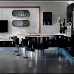 Modern mutfak modelleri siyah