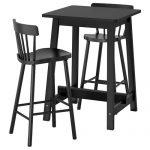 İkea iki kişilik bar masası seti norraker/norrayd