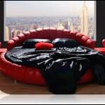 Kırmızı yatak odası tasarımı