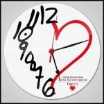 Aşk romantik duvar saati