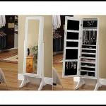Aynalı beyaz takı dolabı modelleri