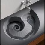 Dalgalı dekoratif mutfak lavabo modelleri