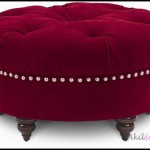 Kırmızı yuvarlak puf koltuk modelleri