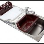 Kurutmalı  mutfak lavabo modelleri