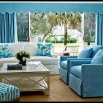 Mavi renk salon dekorasyonu