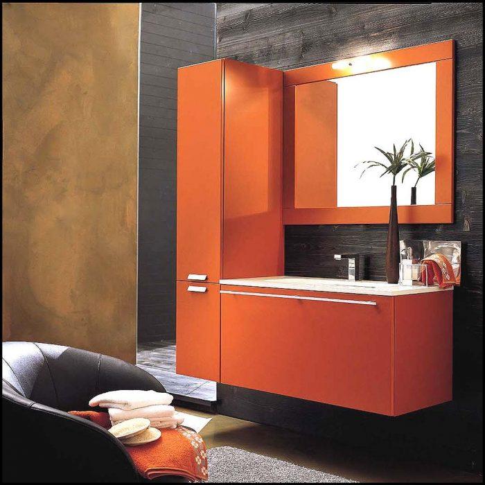 turuncu banyo dolabı modelleri