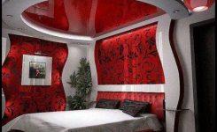 Kırmızı yatak odası dekorasyonları