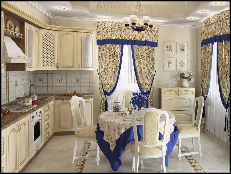 Klasik mutfak perdesi modelleri