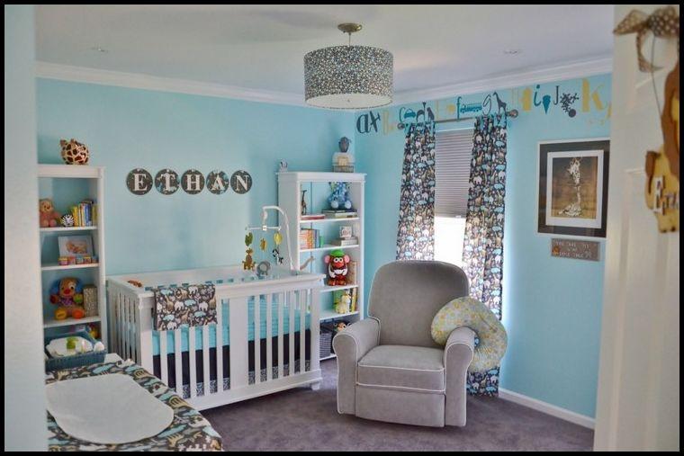 Lüks Mavi Bebek Odası Dekorasyonu