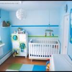 Mavi bebek odası dekorasyonu