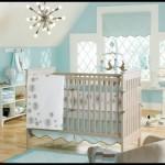 Mavi bebek odası dekoru