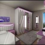 Mor genç kız odası modelleri