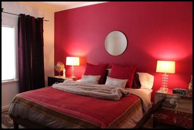 Şık Kırmızı yatak odası modelleri