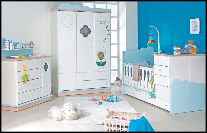 Şık Mavi Bebek Odası Dekorasyonu