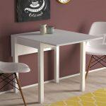 Koçtaş küçük beyaz yemek masası takımı