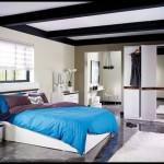 Koçtaş yatak odası mavi beyaz