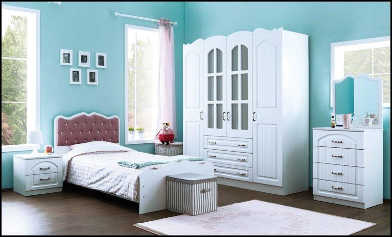 Mavi genç odası modelleri