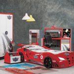 Kilim arabalı genç odası speedy kırmızı