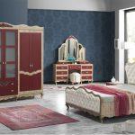 İpek mobilya bordo yatak odası modeli bellativa