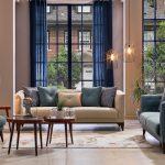 Mondi merlin koltuk takımı batik s. yeşili krem