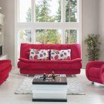 Kilim oturma odası koltuk takımı kırmızı fiesta