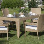 Bahçe mobilya takımı carlo dikdörtgen modeli
