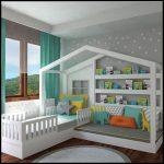 Beyaz çocuk odası