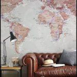 Harita duvar dekorasyonu