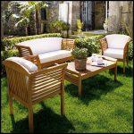 Tik ağacı bahçe mobilyası
