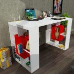 Koçtaş dekorister çalışma masası modelleri kırmızı beyaz