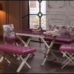 Mondi mor mobilya yemek masası