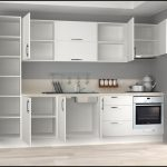 Hazır beyaz mutfak dolapları