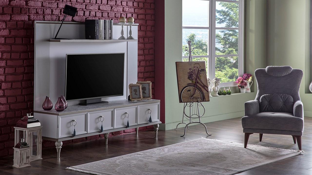 İstikbal tv ünitesi modelleri lorena beyaz