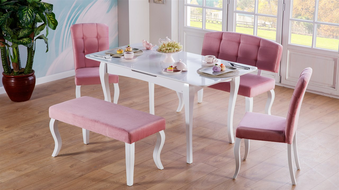 Mondi iris mutfak masa sandalye pudra