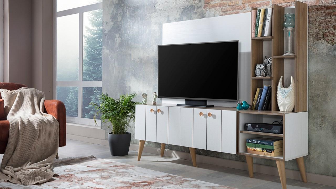 İstikbal tv ünitesi dekorasyonu santino