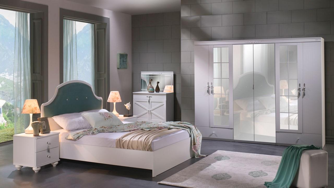 İstikbal mobilya yatak odası  beyaz su yeşili