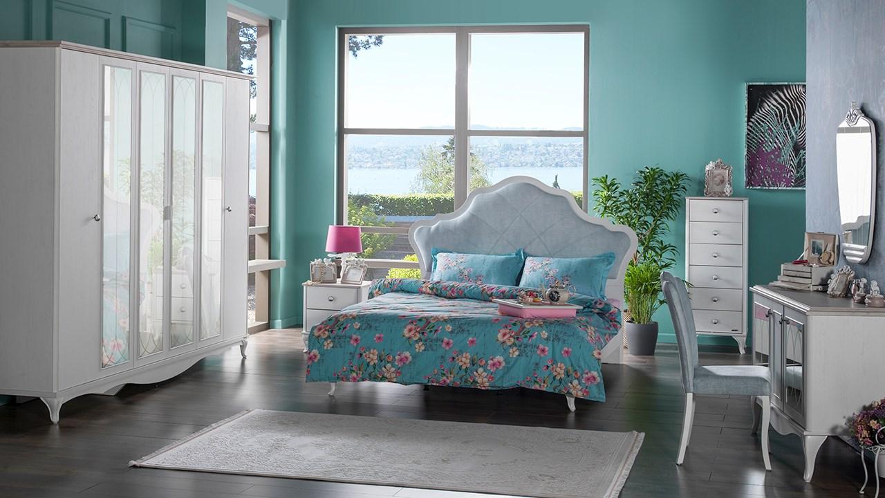 İstikbal yatak odası modelleri julyan beyaz