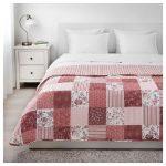 İkea  desenli yatak örtüsü